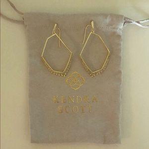 Kendra Scott Gold Open Frame Earrings